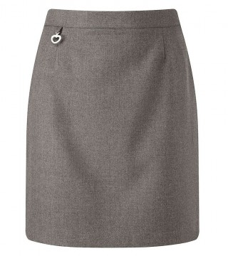Amber Pull on A-line Grey Skirt