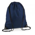 Navy gym bag with logo