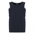 Tenby Navy Double Box Pleat Pinafore